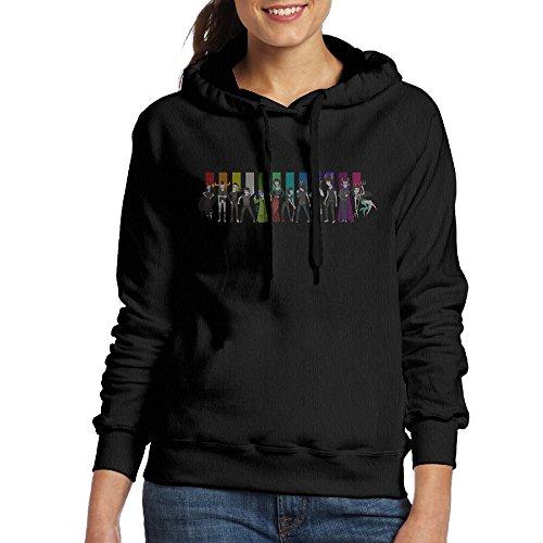 FUOCGH Women's Pullover Homestuck Hivebent Hoodie Sweatshirts Black M