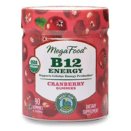 MegaFood – B12 Energy Gummies, Supports Energy Levels with Methylated Vitamin B12 and Organic Cranberry, Vegan, Gluten…