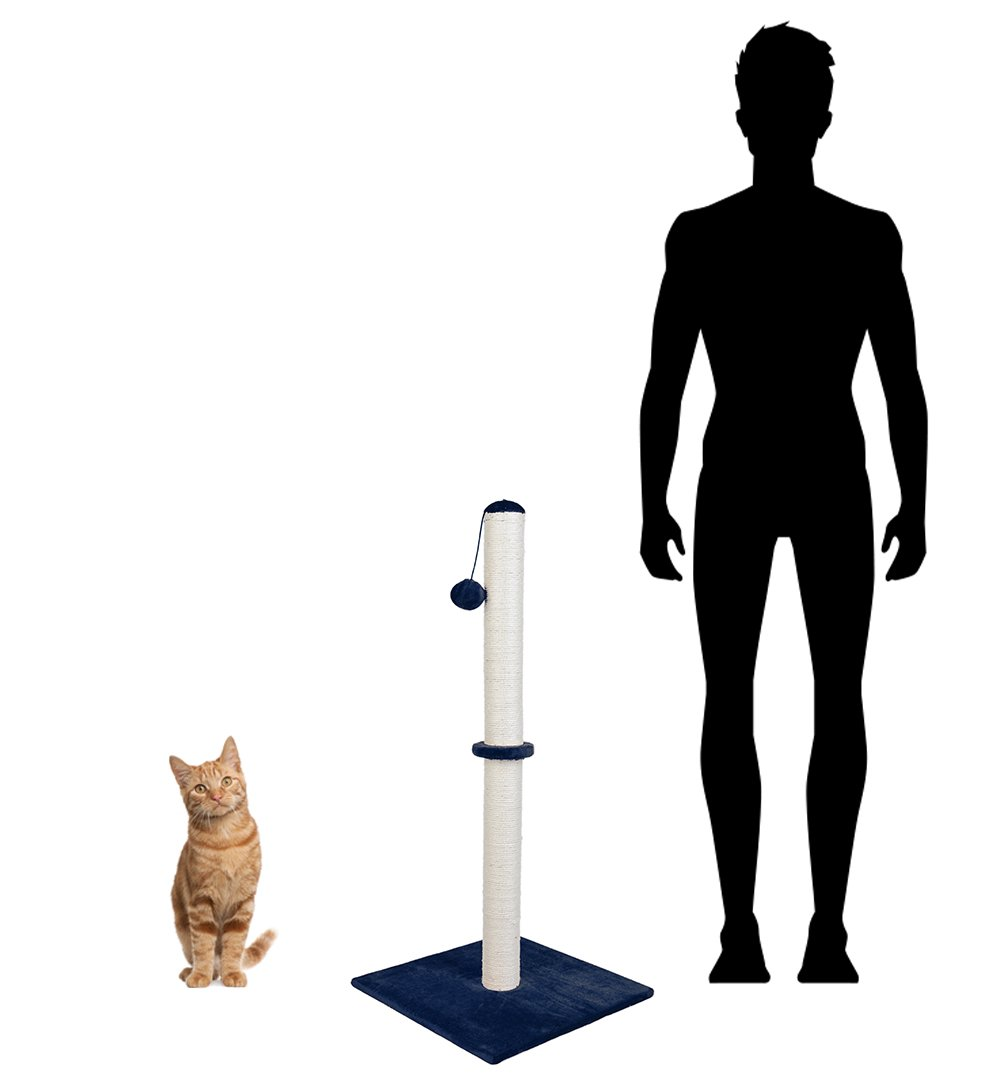 """Dimaka Tall Cat Scratching Post, 37"""" Height Sisal Pole for Big Cats, Ultimate Scratcher with Screws"""
