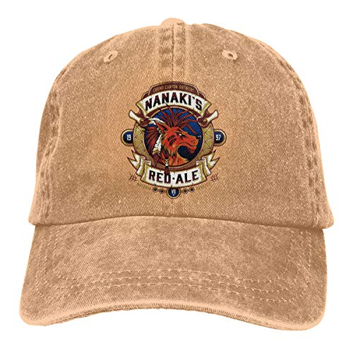 Ginu Red Ale Baseball Cap for Mens and Womens