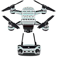 Skin for DJI Spark Mini Drone Combo - Turquoise Tribal| MightySkins Protective, Durable, and Unique Vinyl Decal wrap cover | Easy To Apply, Remove, and Change Styles | Made in the USA