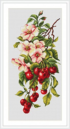 Luca-S Counted Cross Stitch Kit Composition with Cherries