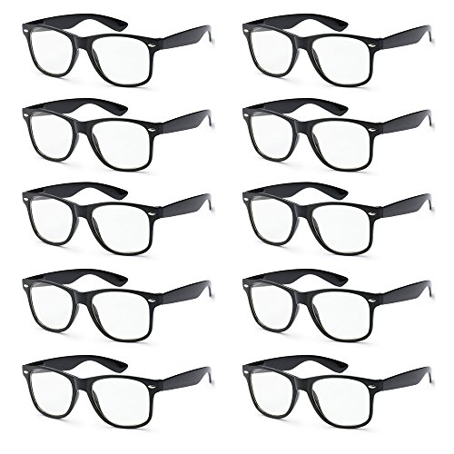 WHOLESALE UNISEX RETRO STYLE BULK LOT PROMOTIONAL GEEK NERD EYEWEAR GLASSES]()