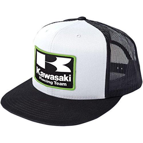 FACTORY EFFEX-APPAREL Kawasaki Racing Hat Mesh Black/White One Size Fits Most ()