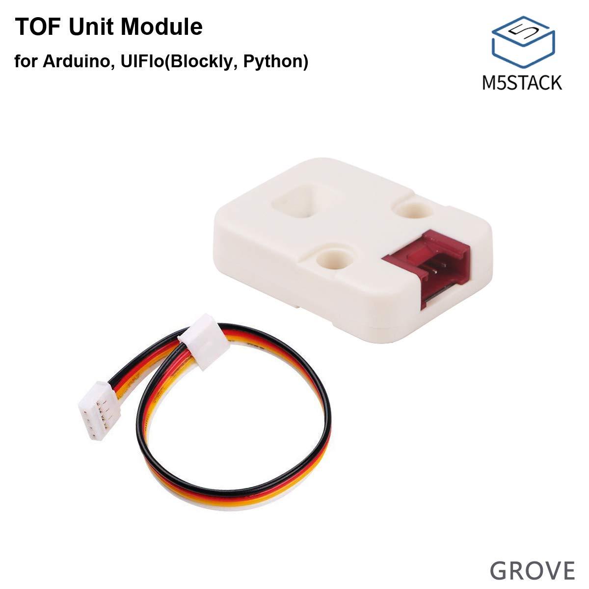 MakerFocus M5Stack TOF Módulo de unidad Módulo de sensor de distancia VL53L0x integrado Compatible con LE-GO Alta precis
