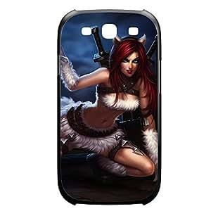 Katarina-006 League of Legends LoL case cover Samsung Galaxy Note4 Plastic Black