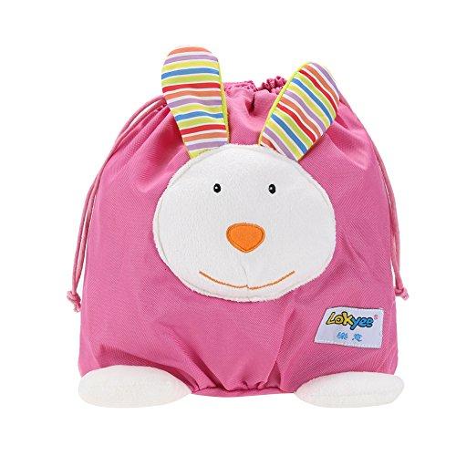 Baby Mini Cartoon Backpack Portable Schoolbag Toy (Pink) - 1