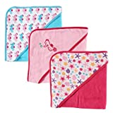 Luvable Friends 3 Pack Hooded Towels – Pink, Health Care Stuffs