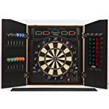 Halex 69805-MAP Cricket View 5000 Dartboard in Wood Cabinet (Maple Finish)