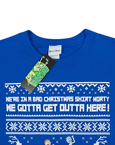 Rick And Morty We Gotta Get Outta Here Men's Christmas Sweatshirt (XL)