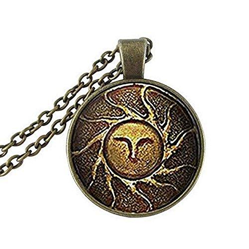 - Litter Star Glass Dome Pendant Fashion Glass Dome Art Neckalce Heirs Of The Sun Dark Souls II Necklace Glass Cabochon Necklace Birthday Anniversary Valentine'S Day Christmas'S Day Graduation Gift For Men For Women Antique Bronze Plated