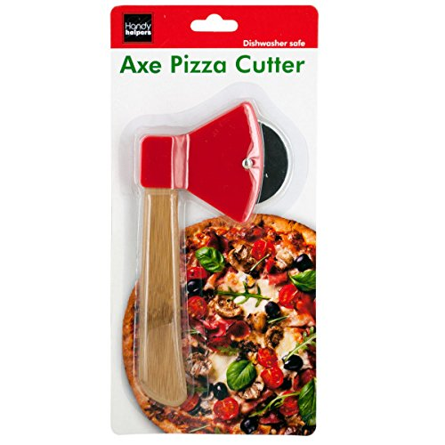 bulk buys OS249 Axe Pizza Cutter, Brown/Red/Silver