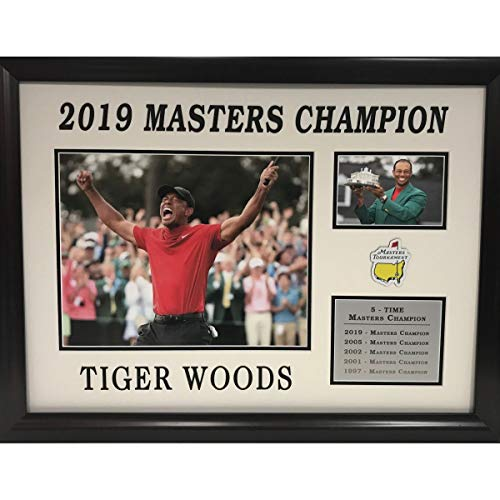 Framed Tiger Woods 2019 5-Time The Masters Tournament Champion Golf 8x10 Photo Collage Professionally Matted (Certified Autograph Photo Golf 8x10)