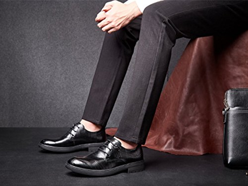 LINYI Herren Business Casual Schuhe Herbst Und Winter Neue Herren Freizeitschuhe Black