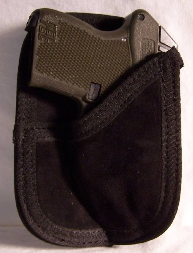 Suede Leather Back Pocket Wallet Holster for Beretta Tomcat 3032, ACP 20, Bobcat 21