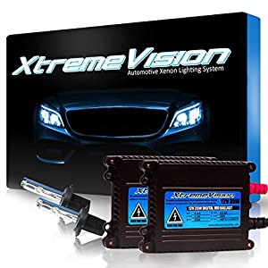 XtremeVision 35W HID Xenon Conversion Kit with Premium Slim Ballast - H7 30000K - Deep Blue - 2 Year Warranty