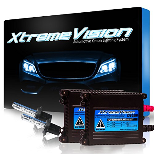 XtremeVision 35W HID Xenon Conversion Kit with Premium Slim Ballast - H7 30000K - Deep Blue - 2 Year Warranty (Replacement Kit Conversion Benz Mercedes)