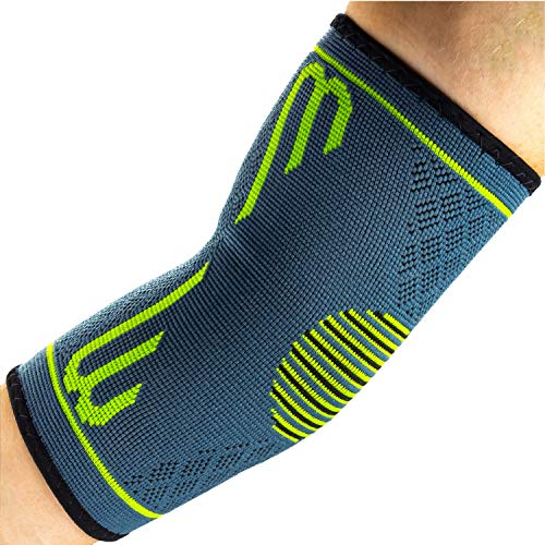 Benmarck Elbow Compression Sleeve, Support Brace, Best for Tennis Golf Weightlifting Men Women, Tendonitis Recovery Wrap by (Fjord Blue, Large)