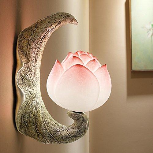 HONGLICreativo Nuovo cinese Lampada da parete Studio Camera da letto Corridoio Corridoio Balcone Decorazione Lampade da comodino Personalità Lampade Lotus