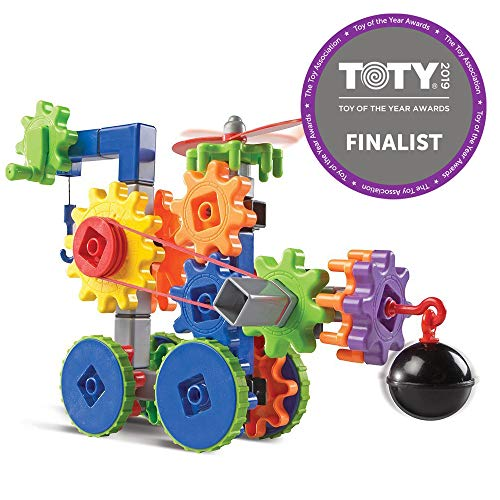 Learning Resources Gears! Gears! Gears! Machines in Motion, STEM Activity Set, 116 Pieces, Ages -