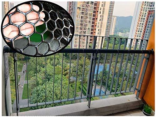 Netz, stabiles Kunststoffzaun, Treppen, Balkon, Handlauf, Geflügel, Zucht, Katze, Garten, Sicherheit, Schwarz…