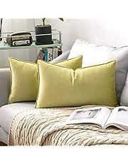 Miulee kussensloop, set van 2 stuks, met verborgen ritssluiting, decoratieve kussensloop voor sofa, slaapkamer, auto.