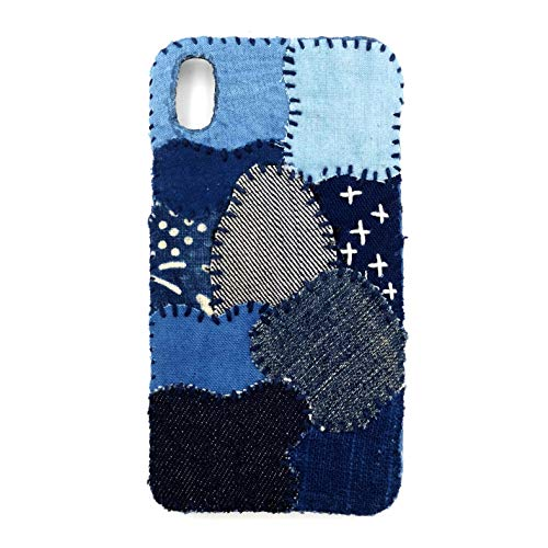 - Authentic Handmade Denim/Indigo/Denim Patchwork/Cellphone Cover for iPhone XR (Blue)