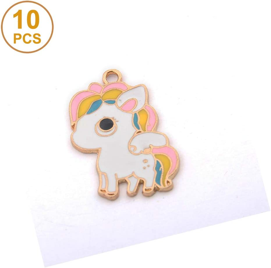 10Pcs Enamel Doll Charms Pendants Necklace Keychains Jewelry Making DIY Craft