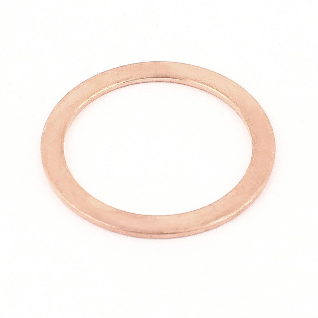 sourcingmap® 38mmx48mmx2mm Cobre Aplastar arandela plana del anillo de sello junta de repuesto a14122500ux0590