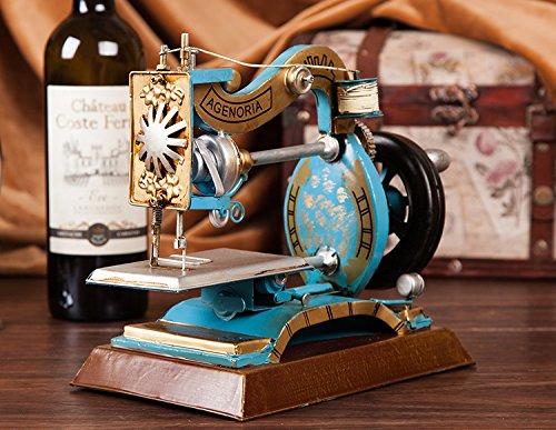 Retro European nostalgia model home sewing machine Iron crafts clothing store window props TA122613 ( Color : B )