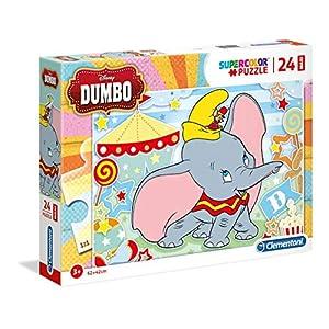 Clementoni Supercolor Puzzle Dumbo 24 Pezzi Maxi Multicolore 28501