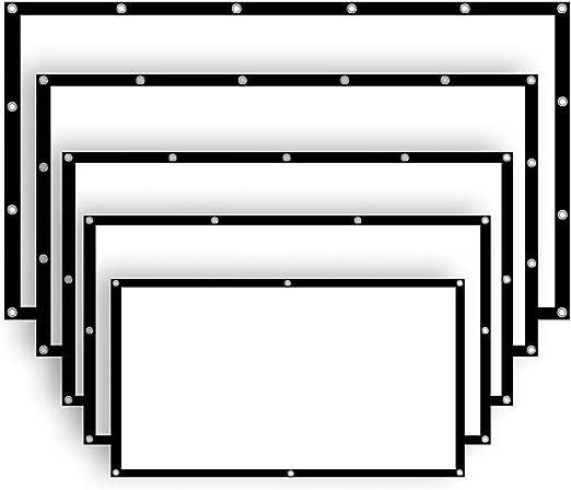 Mate con pantalla grande 60/77/100/120/136 pulgadas 16: 9 Manual ...