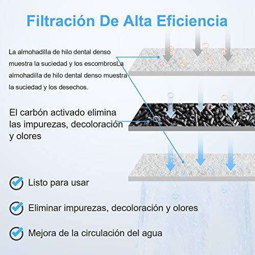 AKKEE Filtro Externo para Acuario, Filtro de Acuario, Filtro Pequeño de Tanque de Peces Acuario Filtro Externo Cascada Suspensión Bomba Filtro Pecera para Peces (3.5W,200L/H)