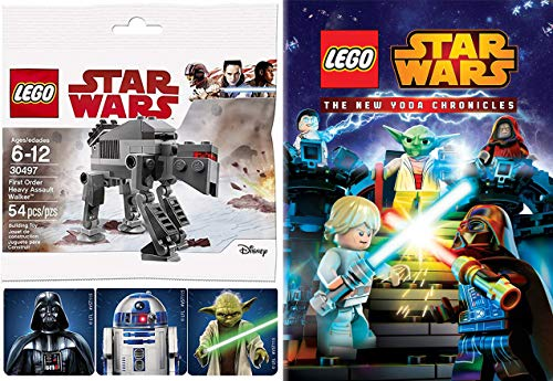 Lego Yoda DVD & Buildable Starship - The Lego Star Wars Movie New Yoda Chronicles 4 episodes & Fighter Toy Bundle Intergalactic Adventures!