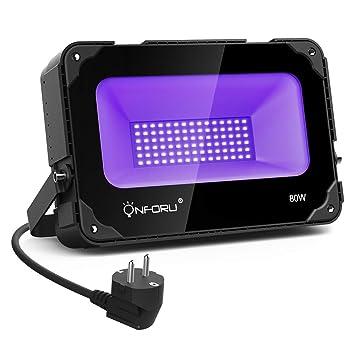 80wProjecteur Led Noire Onforu Avec Lampe Uv Ventilateur Lumière n8Ok0XPw