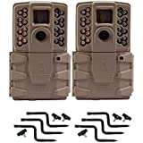 Moultrie A-30 12MP 60 HD Video Low Glow Infrared Game Trail Camera A-30 Game Camera with accessories (2 Pack)