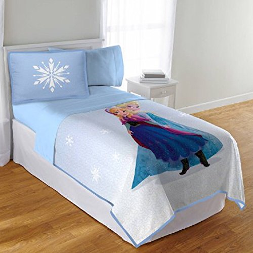 Disney's Frozen Girls Twin/Full Quilt and Sham Bedding Set