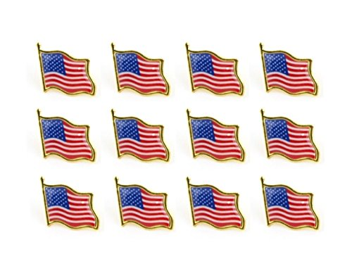 American Flag Pins United States USA Hat Tie Lapel Tacks