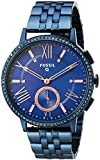 Fossil Hybrid Smartwatch - Q Gazer Navy Blue Stainless Steel FTW1145
