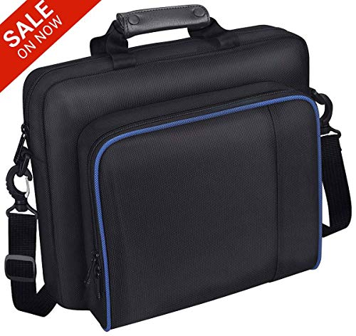 PS4 Travel Case, Multifuncional Waterproof PS4 Carrying Case Portable PS4 Bag for Sony PS4, PS4 Slim Systems and Accessories ()