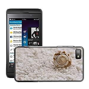 Etui Housse Coque de Protection Cover Rigide pour // M00153391 Mejillones Seashells Tranquilo Escena // BlackBerry Z10