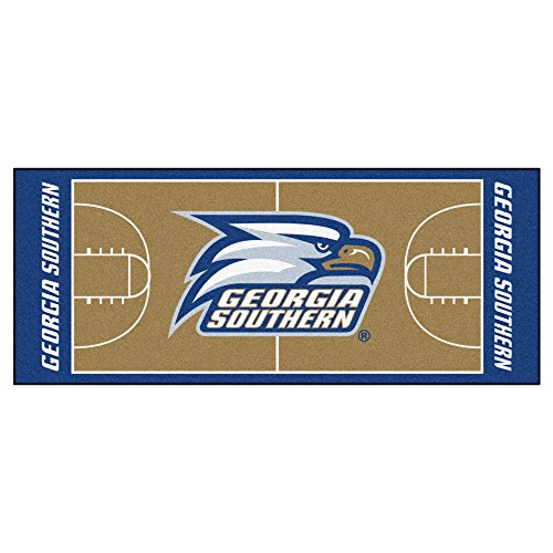 NCAA Georgia Southern University Eagles NCAA Basketball Non-Skid Mat Area Rug Runner (Southern University Basketball Rug)