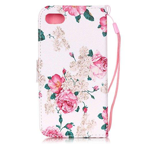 iPhone 7 Hülle,iPhone 7 Leder Hülle,iPhone 7 Wallet Hülle,iPhone 7 Blumen Hülle,Flip Cover Leder Blumen Etui Lederhülle Case für Mädchen für iPhone 7,EMAXELERS iPhone 7 (4.7 Zoll) Hülle Slim,Niedlich  Animal Flower 24
