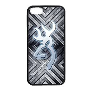Canting_Good Metal Browning Custom Case shin for iPhone 5,5S TPU (Laser Technology)