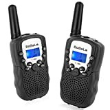 Bobela T388 Best Cool Walkie Talkies as Christmas Stocking Fillers Gifts for Teenage / Twin Way Radio Toys for Kids Hunting / Long Range Walky Talky with Light for Adults Cruise Ship ( Black 2 Pack )