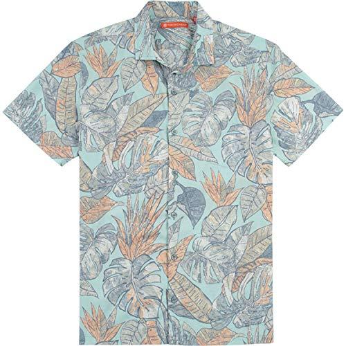 Tori Richard Shale Leaf Camp Shirt - Seafoam