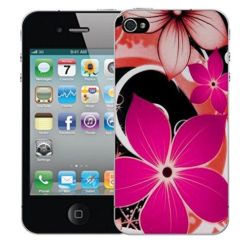 Mobile Case Mate iphone 5 Dur Coque couverture case cover Pare-chocs - pink hybrid flower Motif avec Stylet