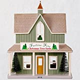Hallmark Keepsake Christmas Ornament 2018 Year Dated, Nostalgic Houses and Shops Festive Firs Christmas Tree Farm