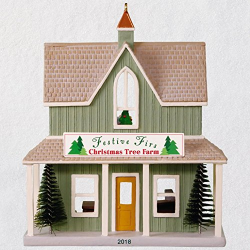 (Hallmark Keepsake Christmas Ornament 2018 Year Dated, Nostalgic Houses and Shops Festive Firs Christmas Tree Farm)