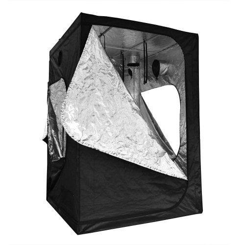 Reflective Mylar Indoor Hydroponic Grow Tent with Windows: 60x60x84 Inch (5ft x 5ft x 7ft)